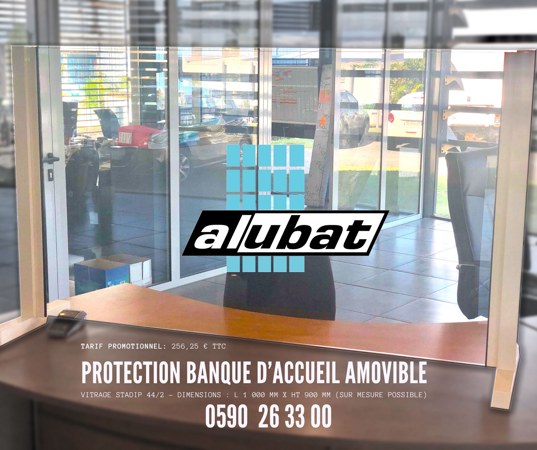 Protection Banque Accueil amovible